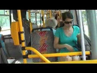 Porno Video of Teen Masturbates On Public Bus