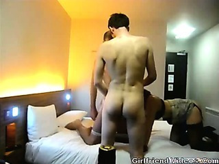 Porn Tube of 2 Guys Fuck Girl At Hotel