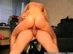 GF Takes Big Cock In Ass