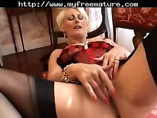 Porno Video of Pierced Granny In Black Fully Fashioned Stockings Fingers Mature Mature Porn Granny Old Cumshots Cum