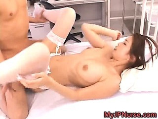 Porno Video of Asian Nurse Has Sexy Lingerie