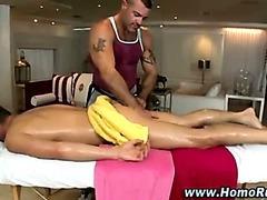 Gay massage slowly turns straight guy