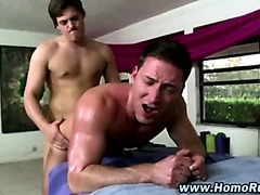 Gay fucks straight cock