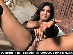 Sunny Leone Plays With Her Wet Pussy On The Stairs on HD Porn Tour