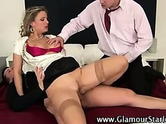 Sexy glam blonde fucked