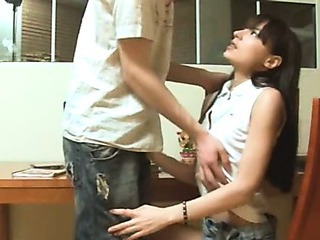 Porno Video of Skinny Teenie Fucking When She Study