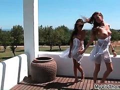 Sylvia Deluxa and Danika enjoy playing