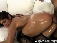 Phat bottom Milf Felony drilled in the asshole with huge cock