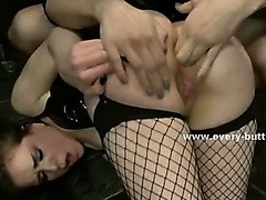 Prick captures babes using anal toys and fucks their round asses deep in remarkable butt fuck