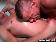 Straighty and bear enjoy cumshot