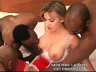 Porn Tube of Santa Girl Interracial Gangbang