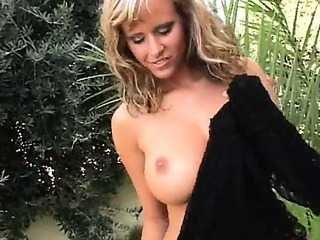 Sex Movie of Amazingly Busty Blond In The Forest