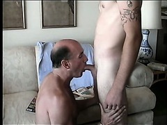 Str8 Marine is super hot. He views pussy magazine as I suck his big cock.