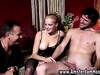 Porn Tube of Real European Bitch Gets A Cumshot