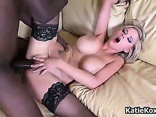 Porno Video of Slutty Blonde Chick With Black Stockings