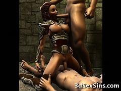 Monsters Fuck 3D Elf Girls!