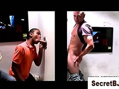 White dude fooled into a gay blowjob with a black guy
