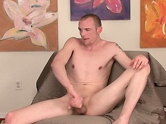 Str8 HUNG Jonas tells me about his girlfriend licking his butthole the 1st time as he shows his hole