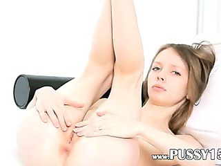 Porn Tube of Unbelievably Thin Slim Girl Teasing