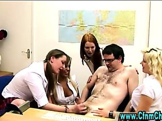 Porn Tube of Sexy Cfnm Schoolgirls Teach Cfnm Dick