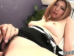 Busty Riana Natsukawa fucked hard from