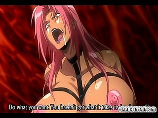 Sex Movie of Bondage Hentai With Huge Boobs Brutally Double Fucked By Monsters
