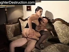 Daddys daughter painfully fucked