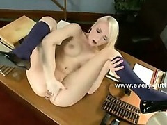 Horny babes playing under the eyes of nasty mistress joined by hard cock in group rough anal sex