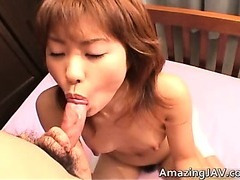 Petite japanese girl sucking cock