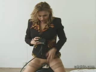 Sex Movie of Sybian Riding Blowjob