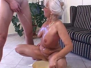 Porn Tube of Piss: Granny In Satin - Piss And Fuck