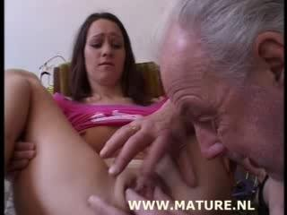 Porn Tube of Old Man Doing Teen After Showi...