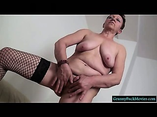 Porn Tube of Dirty Granny Fingering Her Hairy Old Cunt