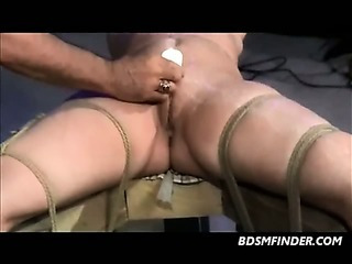 Porno Video of Tied Spanked And Waxed