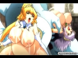 Porno Video of Busty Pregnant Hentai Groupfucking By Monsters