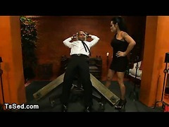 Ts Foxxy ties up taxi driver to wooden restraints