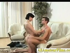 Real fresh amateur couple showing their skills