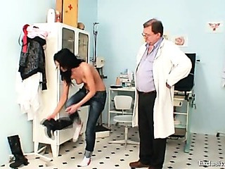 Porno Video of Gabina Humiliated During Kinky Gyno Speculum Exam By Old Doctor