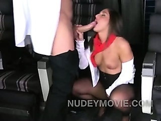 Porn Tube of Big Booty Stewardess Wants Captain Cock To Slide In Her Hangar