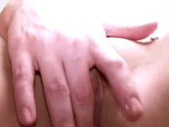 ultra sexy brunet toying pussy
