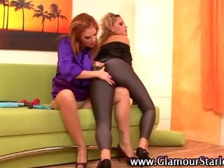 Porno Video of Glam Lesbo Babes Foreplay