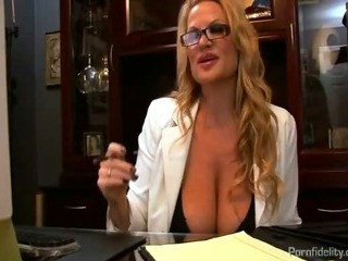 Porno Video of Busty Boss Interviews A Hot Anal Slut For The Office