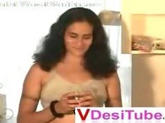 Indian desi Aunty in her room