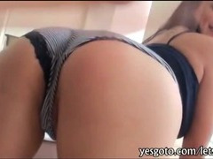 Round butt gf Rikki Nyx with huge rack first time anal sex