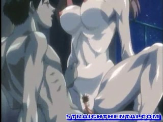 Porn Tube of Big Boobed Anime Blowed And Slammed