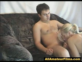 Porno Video of Blonde In Fishnet Giving Surprise Fuck