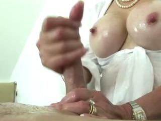 Porno Video of British Mature Tit Job Slut