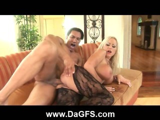 Porn Tube of Anal Squirting Huge Boobed Blonde