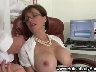Porn Tube of Horny British Slut Gets Cumshot