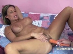Kinky Lavender fucking a MILF with her carrots